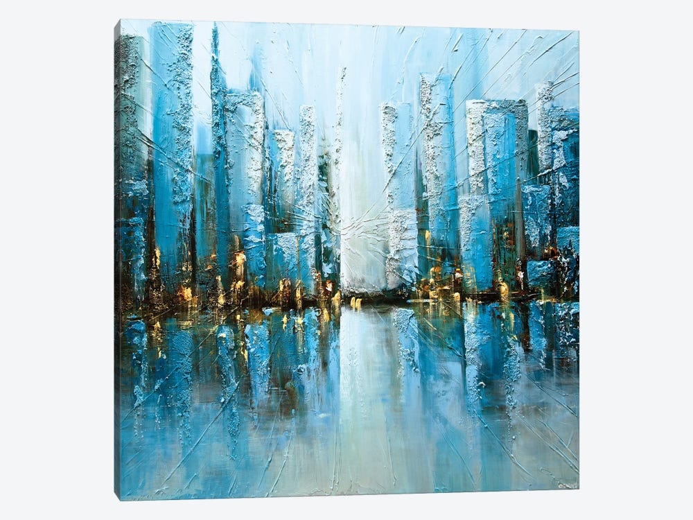 Blue Rise by Osnat Tzadok 1-piece Canvas Print