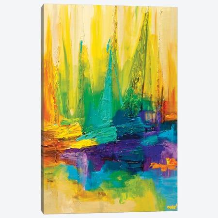 Colored Ocean Canvas Print #OTZ142} by Osnat Tzadok Canvas Artwork