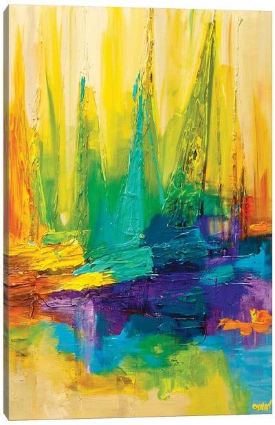 Colored Ocean Canvas Art Print