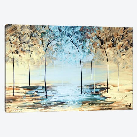 By The Lake Canvas Print #OTZ14} by Osnat Tzadok Canvas Wall Art