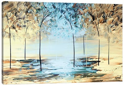 By The Lake Canvas Art Print
