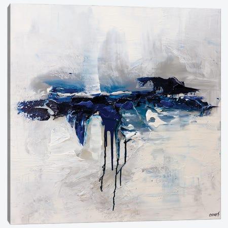 Moon Ocean Canvas Print #OTZ153} by Osnat Tzadok Canvas Art Print
