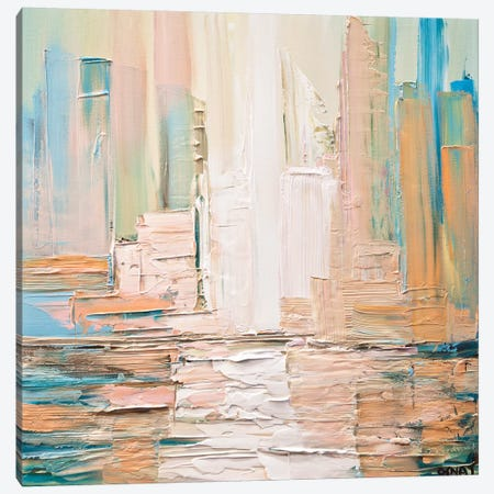 City Skyline Canvas Print #OTZ18} by Osnat Tzadok Art Print