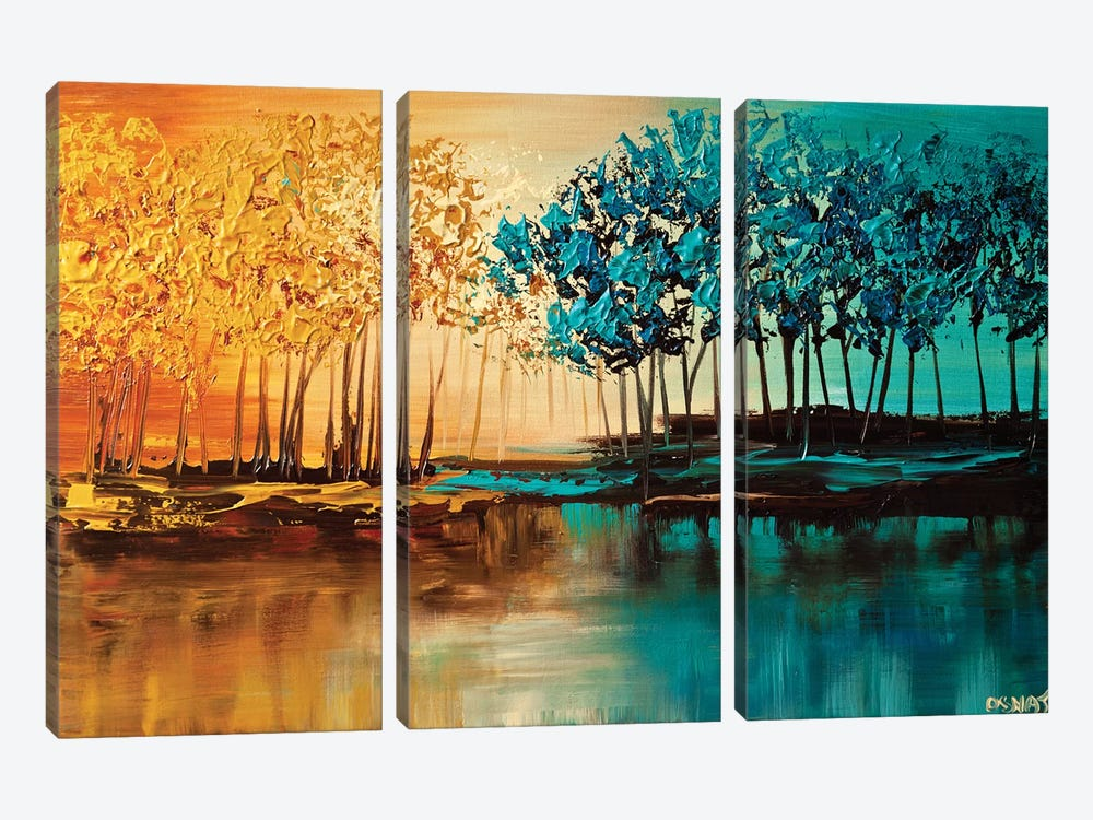 Eden by Osnat Tzadok 3-piece Canvas Art Print