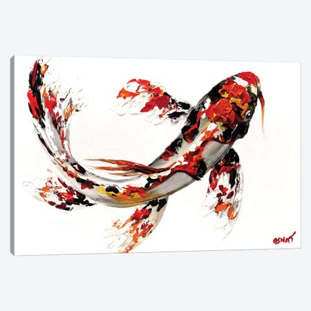 Koi Fish Canvas Print #OTZ33} by Osnat Tzadok Canvas Print