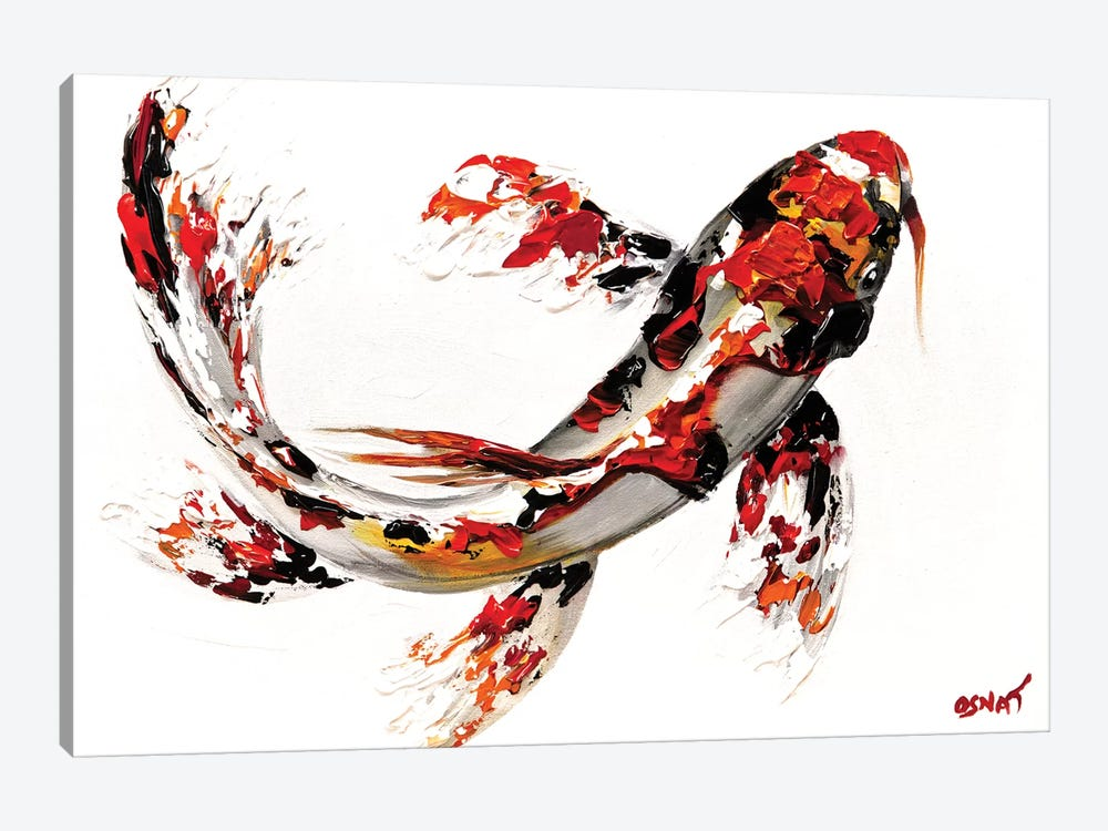 Koi Fish by Osnat Tzadok 1-piece Canvas Print