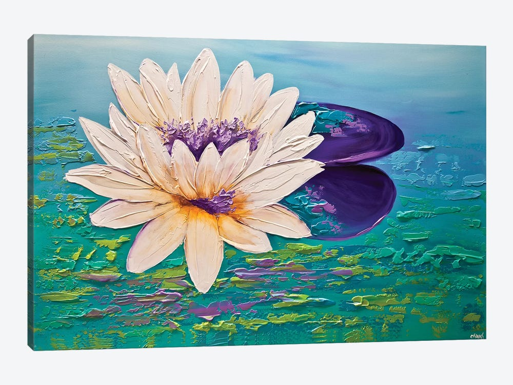 Lotus by Osnat Tzadok 1-piece Canvas Art Print