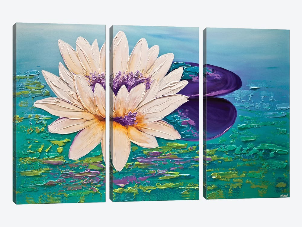 Lotus by Osnat Tzadok 3-piece Canvas Print
