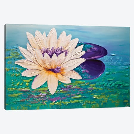 Lotus Canvas Print #OTZ35} by Osnat Tzadok Canvas Art