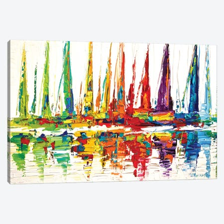 October Sail Canvas Print #OTZ37} by Osnat Tzadok Canvas Art