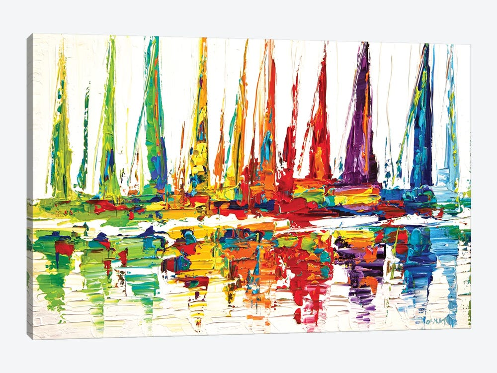 October Sail by Osnat Tzadok 1-piece Canvas Print