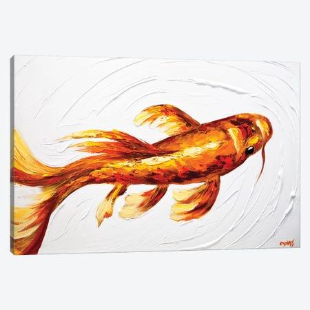 Orange Koi Fish Canvas Print #OTZ39} by Osnat Tzadok Canvas Art Print