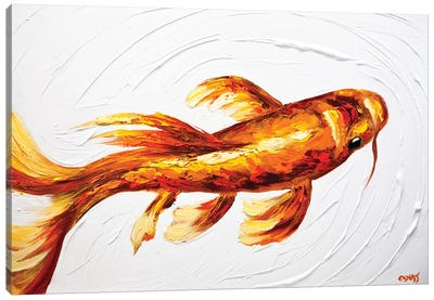 Orange Koi Fish Canvas Art Print