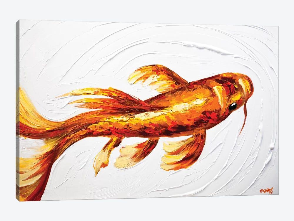 Orange Koi Fish by Osnat Tzadok 1-piece Art Print