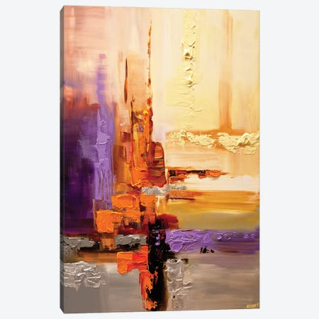 Orange Theory Canvas Print #OTZ40} by Osnat Tzadok Canvas Wall Art