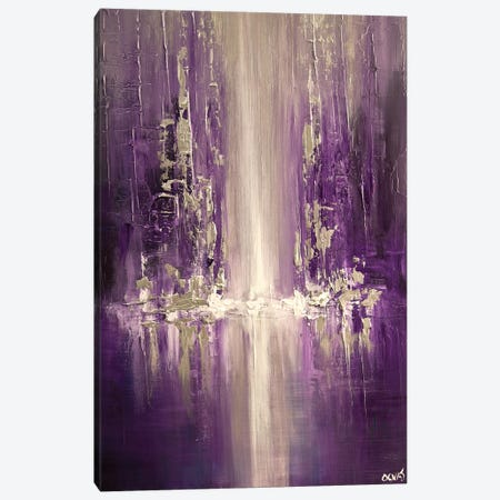 Purple Rain 3-Piece Canvas #OTZ45} by Osnat Tzadok Canvas Print