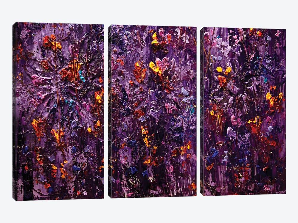 Purple Scent II by Osnat Tzadok 3-piece Canvas Art Print