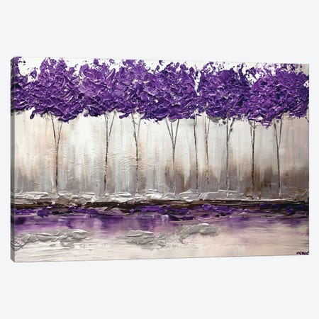 Purple Summer 3-Piece Canvas #OTZ47} by Osnat Tzadok Canvas Print