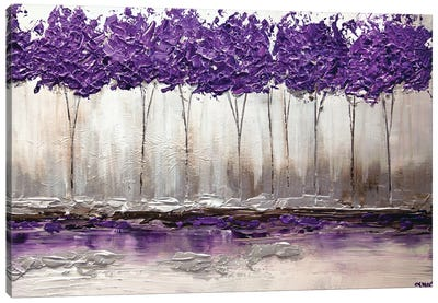 Purple Summer Canvas Art Print