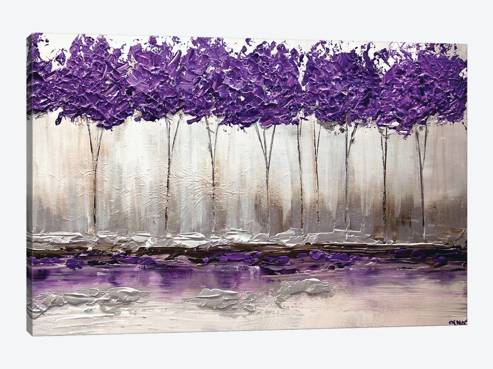 Purple Summer by Osnat Tzadok 1-piece Canvas Wall Art