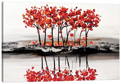 Red Blossom Canvas Art Print