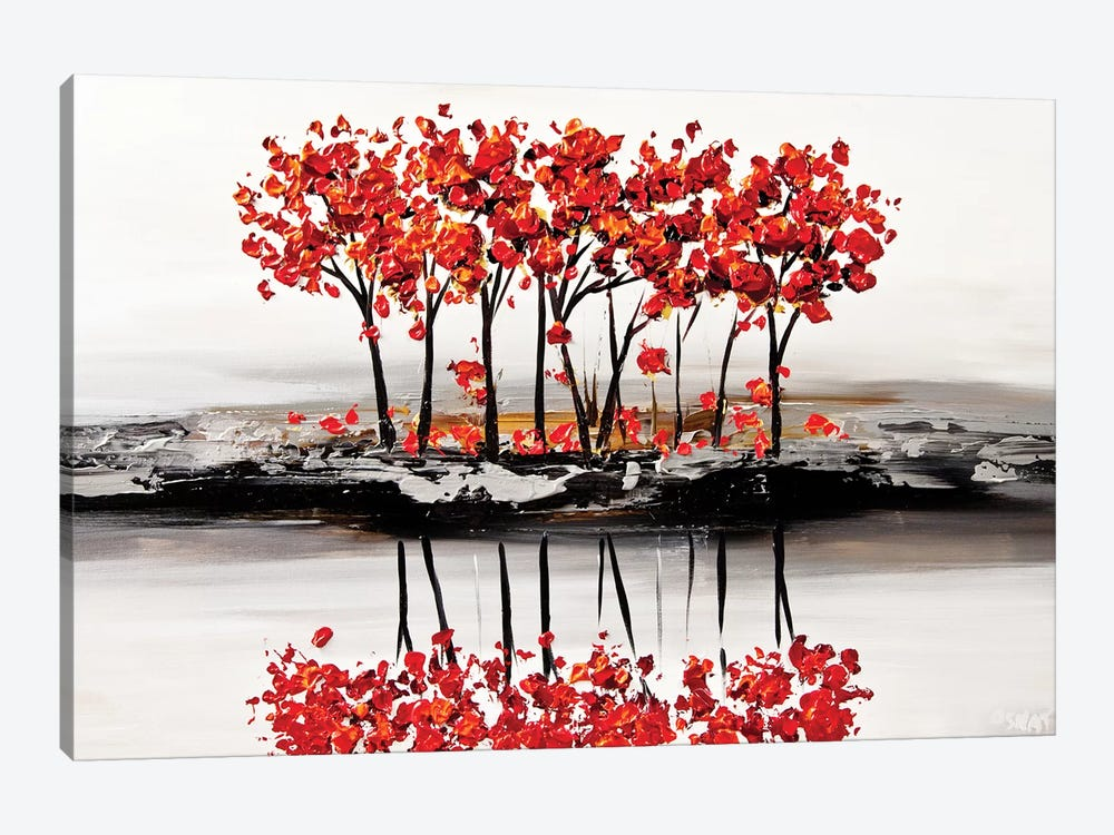 Red Blossom 1-piece Canvas Artwork