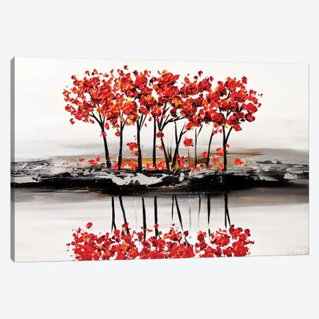 Red Blossom 3-Piece Canvas #OTZ49} by Osnat Tzadok Canvas Art