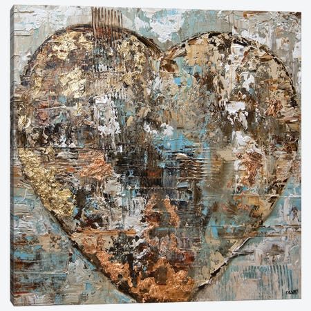 Artist's Heart Canvas Print #OTZ4} by Osnat Tzadok Art Print
