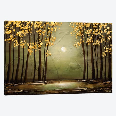 Sage Forest Canvas Print #OTZ55} by Osnat Tzadok Canvas Wall Art