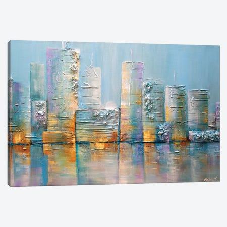 Salt City 3-Piece Canvas #OTZ56} by Osnat Tzadok Canvas Art