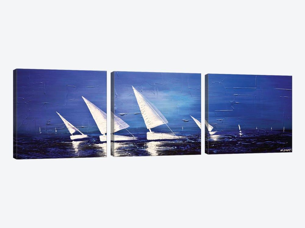 Sea Diamonds by Osnat Tzadok 3-piece Canvas Art Print