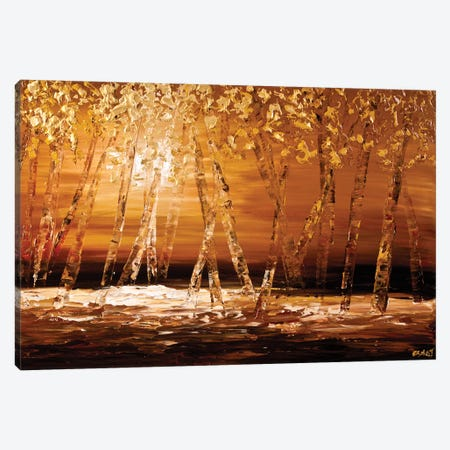 Autumn 3-Piece Canvas #OTZ5} by Osnat Tzadok Canvas Print