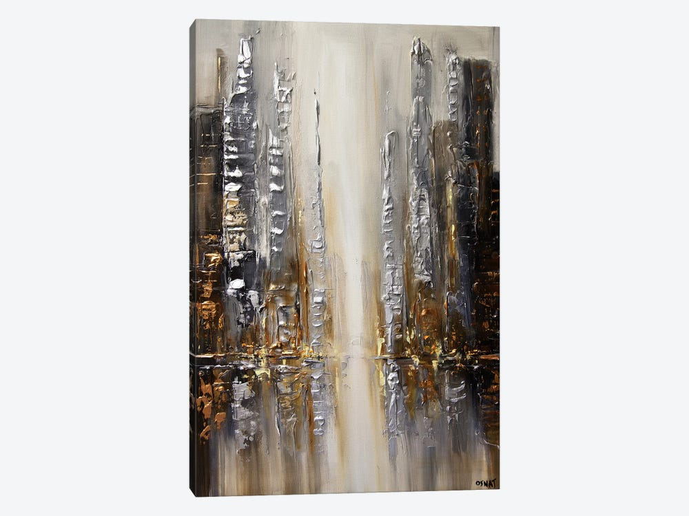 Silver City by Osnat Tzadok 1-piece Canvas Art Print