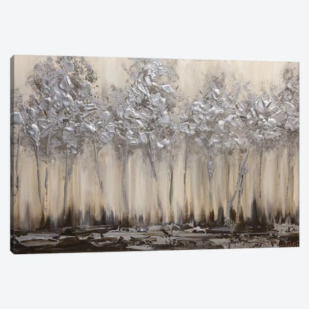 Silver Forest Canvas Print #OTZ61} by Osnat Tzadok Canvas Artwork