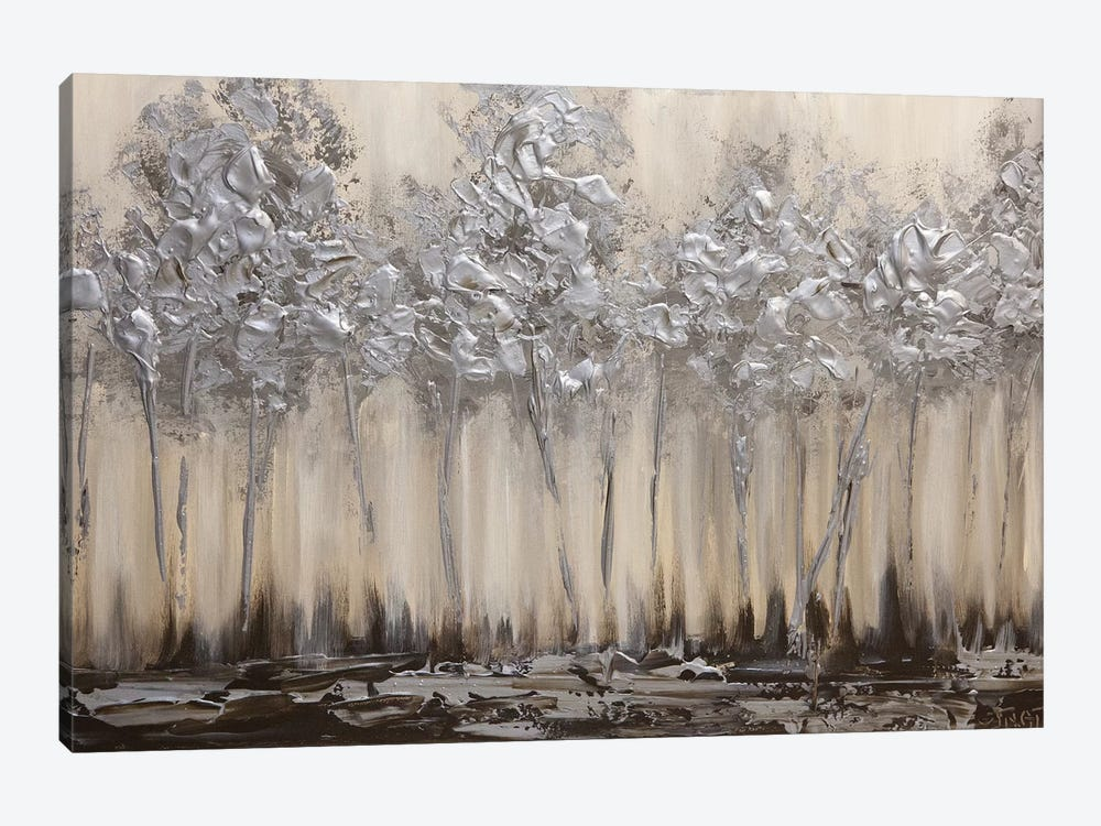 Silver Forest by Osnat Tzadok 1-piece Canvas Artwork