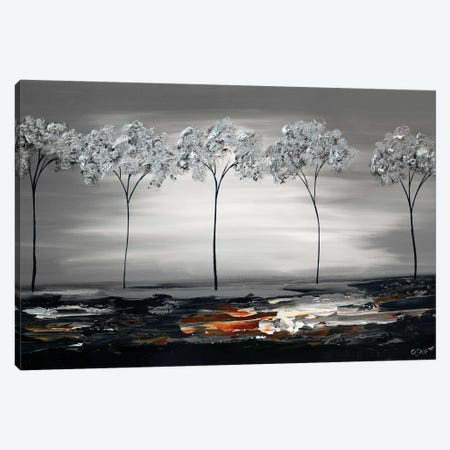 Silver River 3-Piece Canvas #OTZ62} by Osnat Tzadok Canvas Wall Art