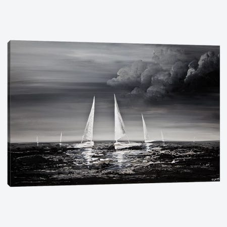 Stormy Sea Canvas Print #OTZ72} by Osnat Tzadok Canvas Art Print