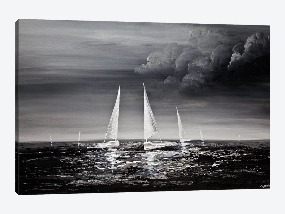 Stormy Sea by Osnat Tzadok 1-piece Canvas Artwork