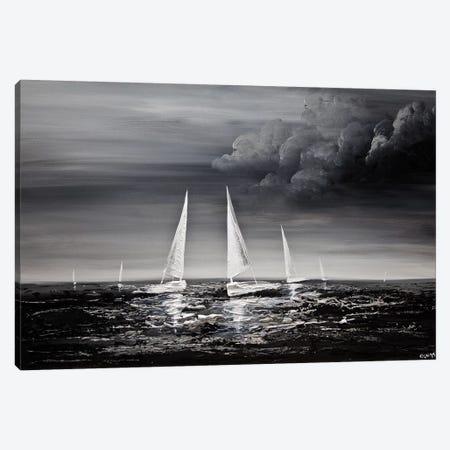 Stormy Sea Canvas Print #OTZ72} by Osnat Tzadok Canvas Art Print