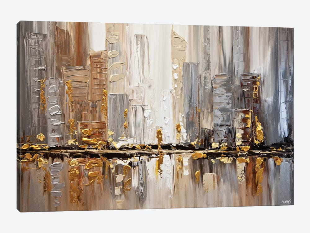 Streets I by Osnat Tzadok 1-piece Canvas Art Print