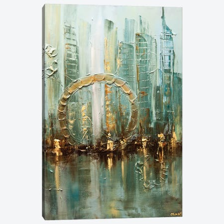 Babylon City Canvas Print #OTZ7} by Osnat Tzadok Art Print