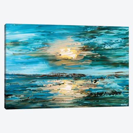 The Sea 3-Piece Canvas #OTZ84} by Osnat Tzadok Canvas Print