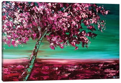 Under The Cherry Tree Canvas Art Print