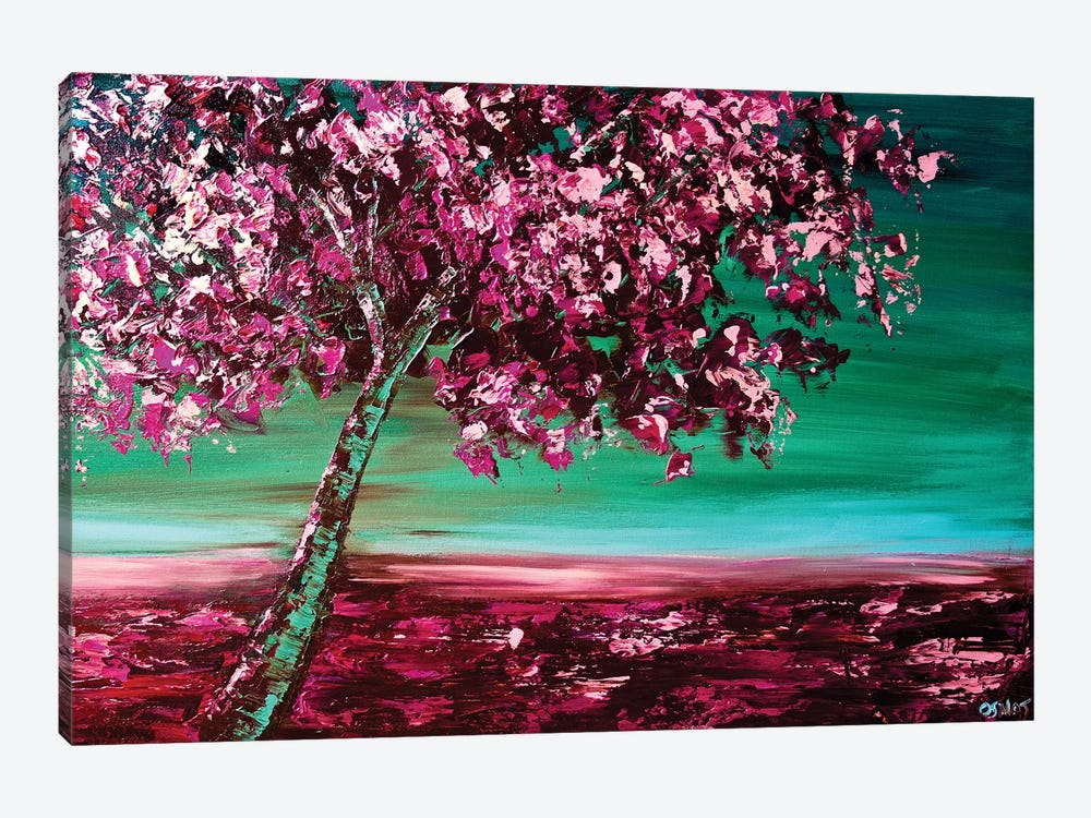 Under The Cherry Tree 1-piece Canvas Wall Art
