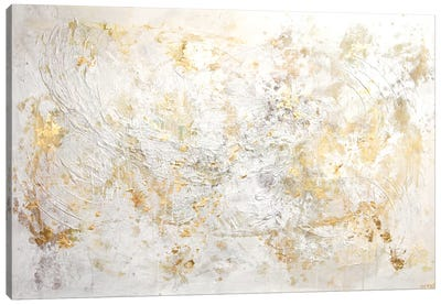 White Flex Canvas Art Print