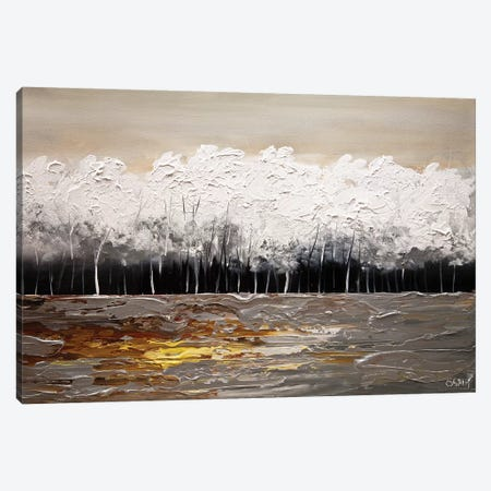 White Forest Canvas Print #OTZ95} by Osnat Tzadok Canvas Art