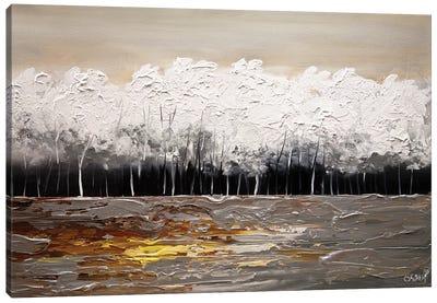 White Forest Canvas Art Print