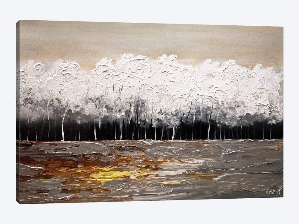 White Forest by Osnat Tzadok 1-piece Canvas Print