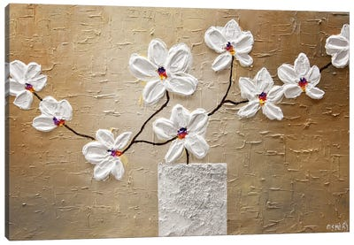 White Orchid Canvas Art Print