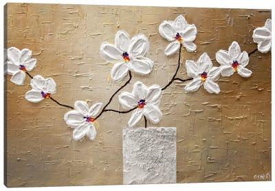 White Orchid Canvas Art Print